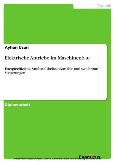Elektrische Antriebe im Maschinenbau - Blick ins Buch