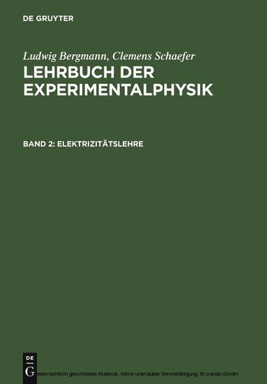 Elektrizitätslehre - Blick ins Buch
