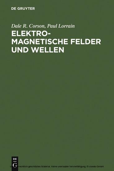 Elektromagnetische Felder und Wellen - Blick ins Buch