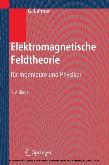 Elektromagnetische Feldtheorie - Blick ins Buch
