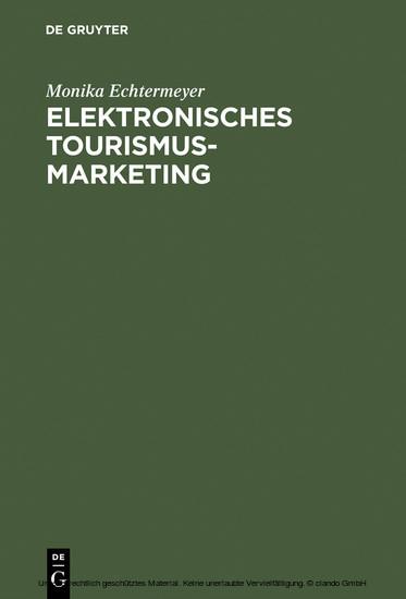 Elektronisches Tourismus-Marketing - Blick ins Buch