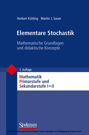 Elementare Stochastik - Blick ins Buch