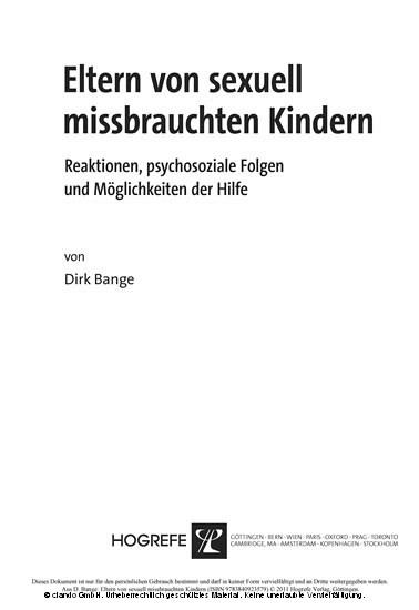 Eltern von sexuell missbrauchten Kindern - Blick ins Buch