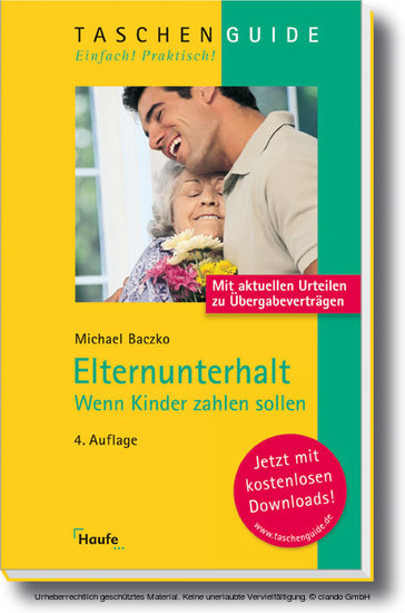 Elternunterhalt - Blick ins Buch