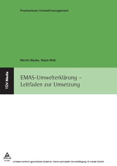 EMAS-Umwelterklärung - Blick ins Buch