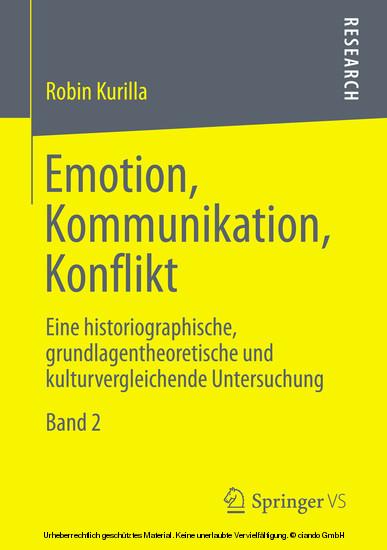 Emotion, Kommunikation, Konflikt - Blick ins Buch