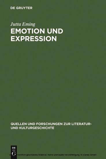 Emotion und Expression - Blick ins Buch
