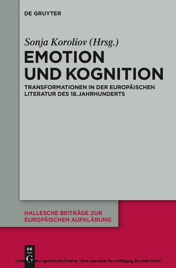Emotion und Kognition - Blick ins Buch