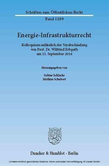 Energie-Infrastrukturrecht. - Blick ins Buch