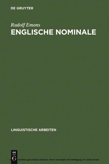 Englische Nominale - Blick ins Buch