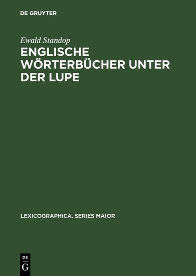 Englische Wörterbücher unter der Lupe - Blick ins Buch