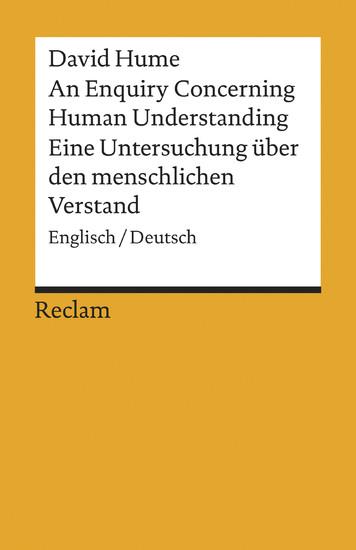 An Enquiry Concerning Human Understanding / Eine Untersuchung über den menschlichen Verstand - Blick ins Buch