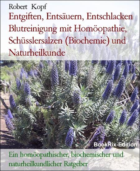 Entgiften, Entsäuern, Entschlacken Blutreinigung mit Homöopathie, Schüsslersalzen (Biochemie) und Naturheilkunde - Blick ins Buch