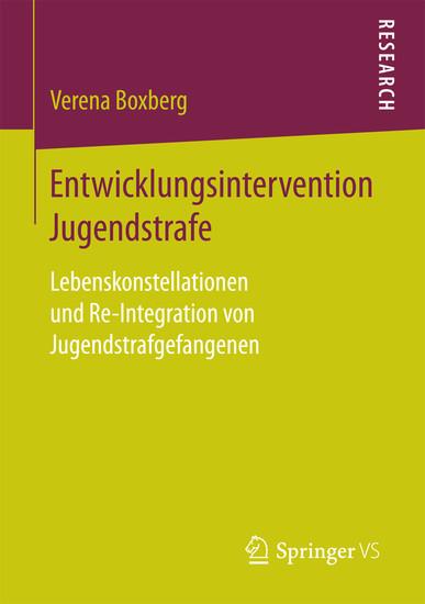 Entwicklungsintervention Jugendstrafe - Blick ins Buch