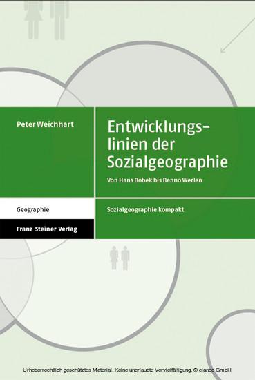 Entwicklungslinien der Sozialgeographie - Blick ins Buch