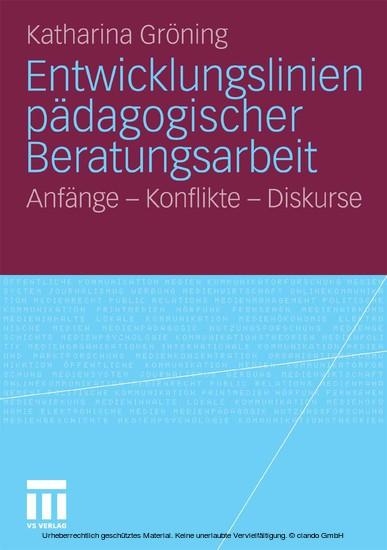 Entwicklungslinien pädagogischer Beratungsarbeit - Blick ins Buch