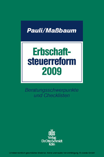 Erbschaftsteuerreform 2009 - Blick ins Buch
