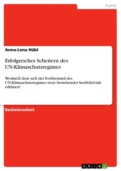 Erfolgreiches Scheitern des UN-Klimaschutzregimes - Blick ins Buch