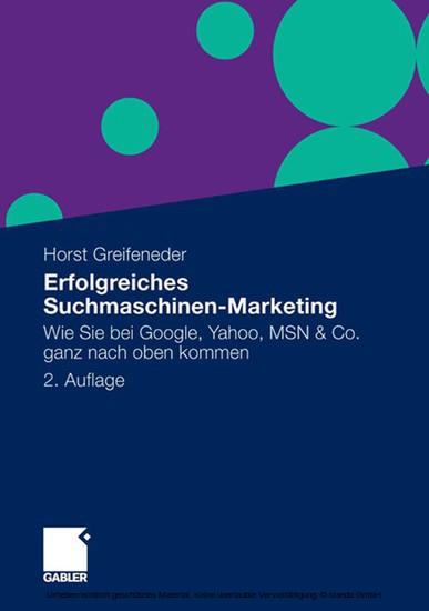 Erfolgreiches Suchmaschinen-Marketing - Blick ins Buch