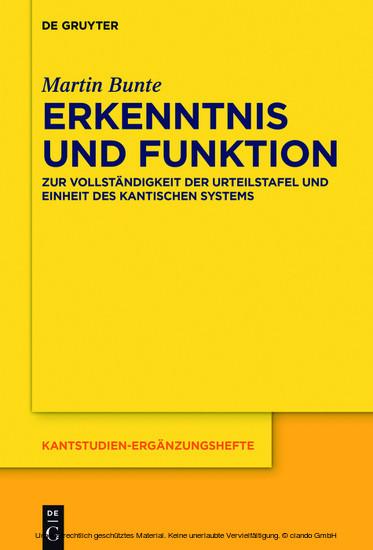Erkenntnis und Funktion - Blick ins Buch