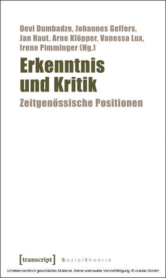 Erkenntnis und Kritik - Blick ins Buch
