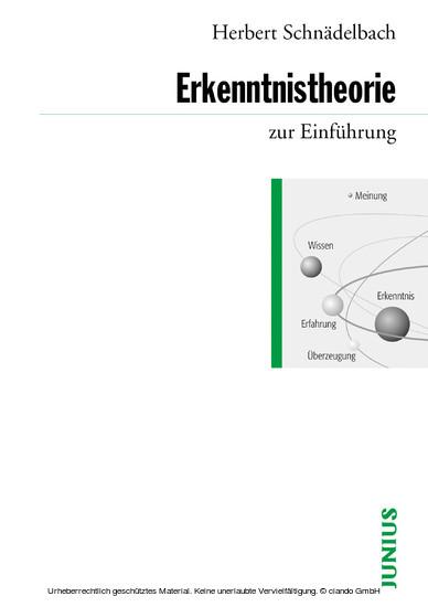 Erkenntnistheorie zur Einführung - Blick ins Buch