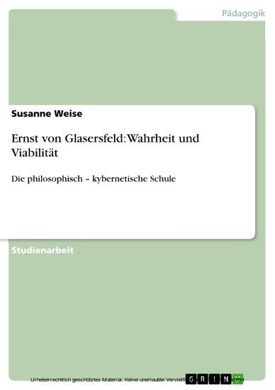 Ernst von Glasersfeld: Wahrheit und Viabilität - Blick ins Buch
