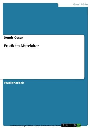 Erotik im Mittelalter - Blick ins Buch