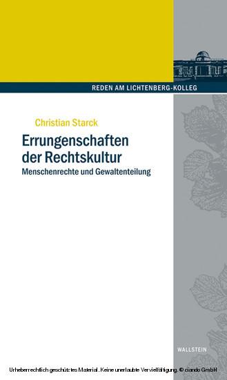 Errungenschaften der Rechtskultur - Blick ins Buch