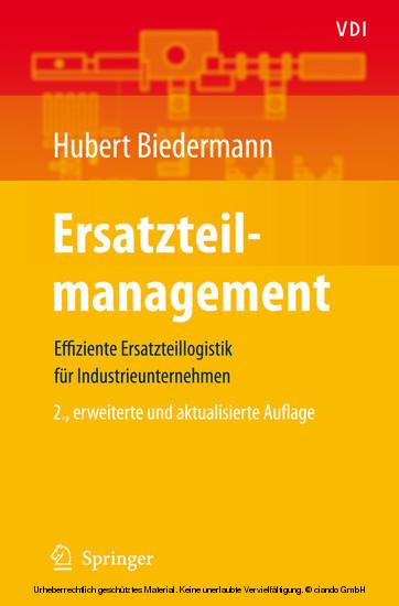 Ersatzteilmanagement - Blick ins Buch