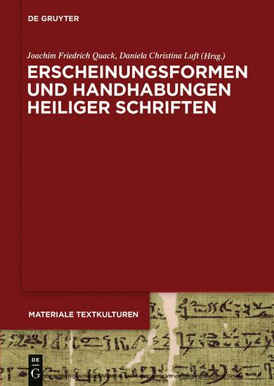 Erscheinungsformen und Handhabungen Heiliger Schriften - Blick ins Buch