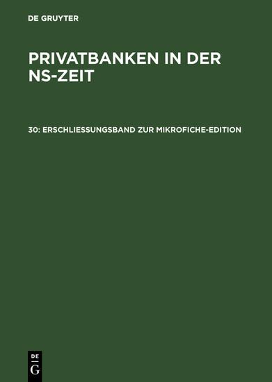 Erschließungsband zur Mikrofiche-Edition - Blick ins Buch