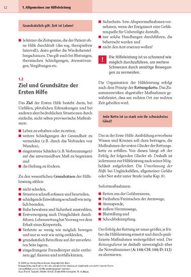 Erste Hilfe kompakt - Blick ins Buch