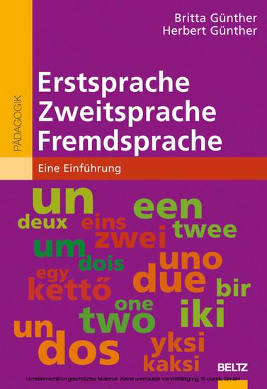 Erstsprache, Zweitsprache, Fremdsprache - Blick ins Buch