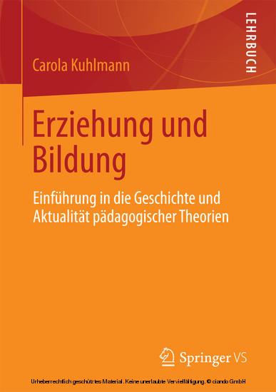 Erziehung und Bildung - Blick ins Buch