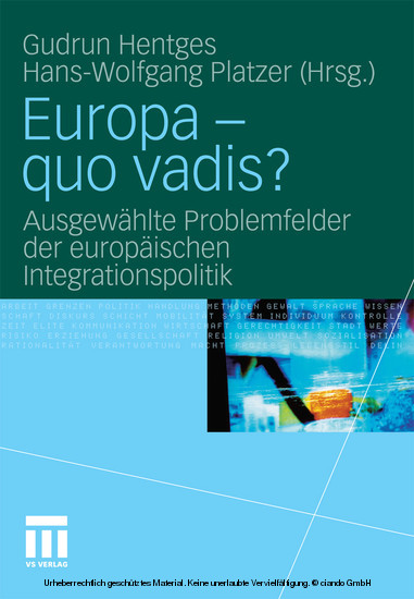 Europa - quo vadis? - Blick ins Buch