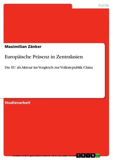 Europäische Präsenz in Zentralasien - Blick ins Buch