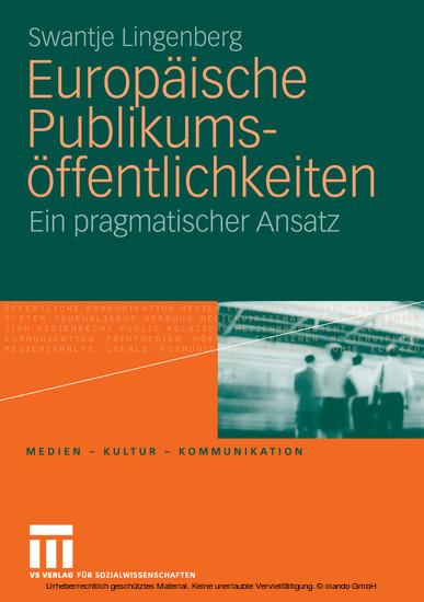 Europäische Publikumsöffentlichkeiten - Blick ins Buch