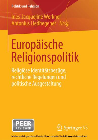 Europäische Religionspolitik - Blick ins Buch