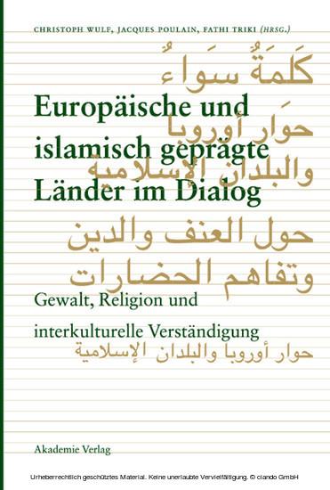 Europäische und islamisch geprägte Länder im Dialog - Blick ins Buch