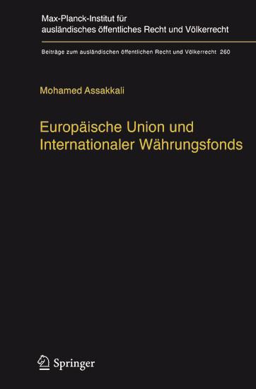 Europäische Union und Internationaler Währungsfonds - Blick ins Buch