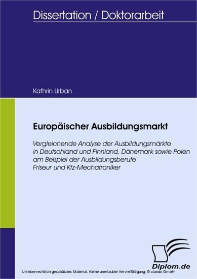 Europäischer Ausbildungsmarkt - Blick ins Buch