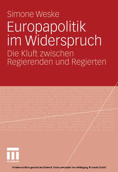 Europapolitik im Widerspruch - Blick ins Buch