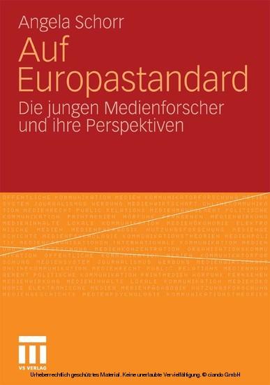 Auf Europastandard - Blick ins Buch
