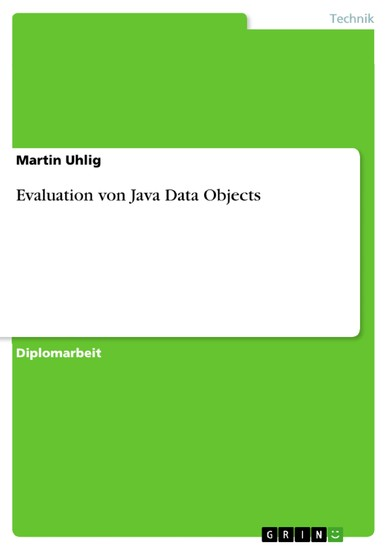 Evaluation von Java Data Objects - Blick ins Buch