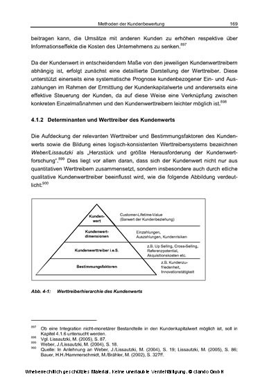 Evaluierung und Steuerung von Kundenbeziehungen aus Sicht des unternehmenswertorientierten Controlling - Blick ins Buch