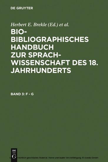 F - G - Blick ins Buch