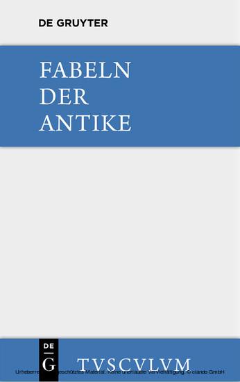 Fabeln der Antike - Blick ins Buch