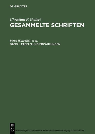 Fabeln und Erzählungen - Blick ins Buch