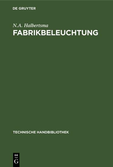Fabrikbeleuchtung - Blick ins Buch
